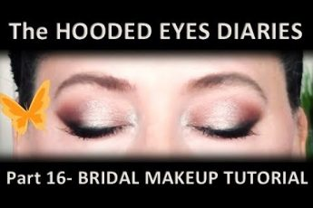 BRIDAL MAKEUP TUTORIAL?Relaxing VISUAL Tutorial?SOFT SMOKEY HALO EYE? WEDDING MAKEUP?HOODED EYES