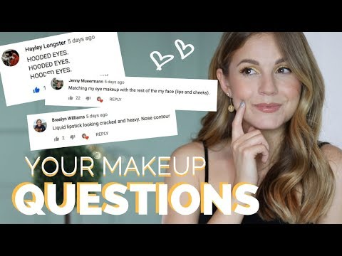 Answering YOUR Makeup Questions// Hooded Eyes? Foundation Matching?