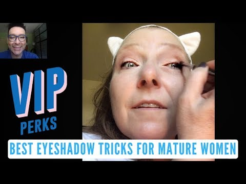 Best Eyeshadow Application Techniques For Mature Women With Aging Eyes | mathias4makeup