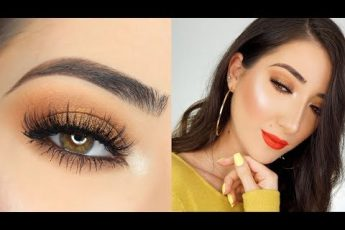 QUICK & EASY BRONZE SMOKEY EYE & BRIGHT LIP MAKEUP TUTORIAL