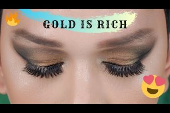 GOLD AND BROWN SMOKEY EYES | MAKEUP FOR HOODED EYES