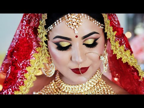 SUMMER LONG LASTING INDIAN BRIDAL MAKEUP TUTORIAL in HINDI (SWEAT PROOF/WATER PROOF)
