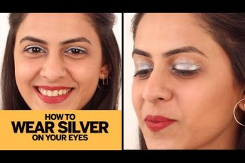 Easy Silver Glitter Eye Makeup | Beginners Eye Makeup Tutorial | Makeup 101 | Femina