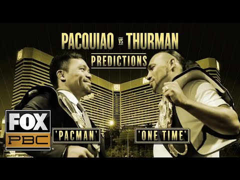Pro Fighters make their predictions on the upcoming Pacquiao vs Thurman fight | INSIDE PBC BOXING