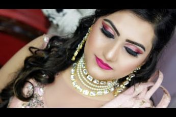 Pink Engagement Makeup Class By Prabha Makeover