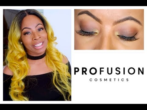 BROWN EYES Makeup Tutorial | Profusion Cosmetics PEACH Metals Palette