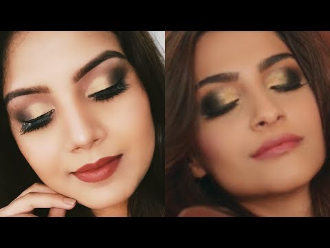 Sonam Kapoor Inspired Makeup Look || Golden Smokey Eyes || Sweet Lifestyle