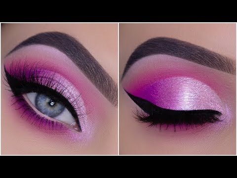 HOW TO CREATE A PINK CUT CREASE | Neon Vibes Eye Look