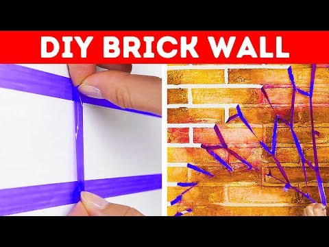 30 SIMPLE DIY WAYS TO PAINT YOUR WALLS || DIY Tutorials And Repair Life Hacks