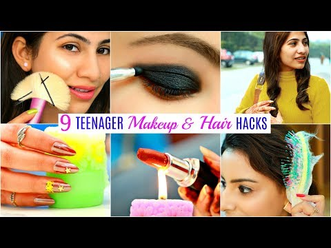 9 TEENAGERS Life Saving HACKS – Makeup, Hair & Beauty | #Fun #Anaysa