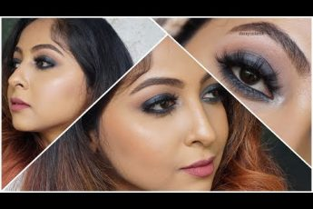 FULL FACE MAKEUP USING NYX COSMETICS | GUNMETAL SMOKEY EYES | Stacey Castanha