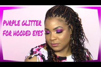 PURPLE GLITTER EYE MAKEUP TUTORIAL FOR HOODED EYES | Cecee Walton