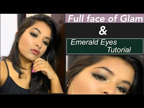 EMERALD EYE MAKEUP TUTORIAL| FULL FACE OF GLAM