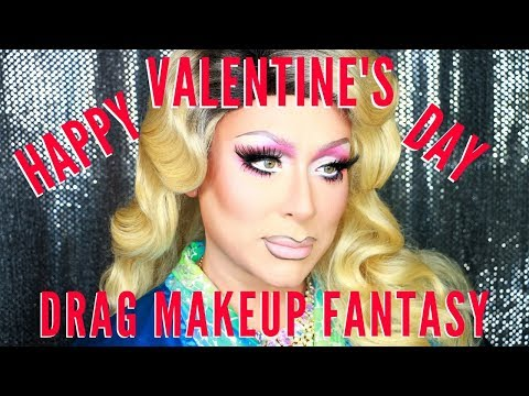 Get to Know ME! Valentine's Day Drag Makeup Fantasy | mathias4makeup
