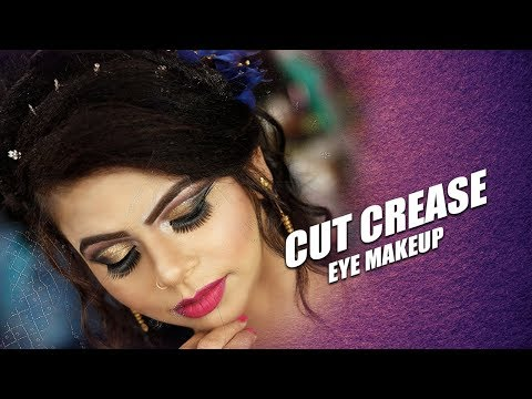 Cut Crease Party Eye Makeup By Prabha Makeover