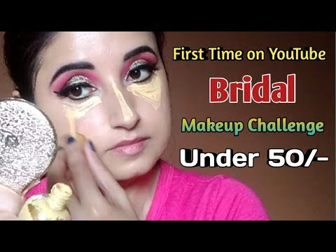 Bridal Makeup Challenge Under Rupees 50 | First Time On YouTube | Beautiful U