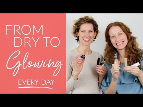 Everyday Dry Skin Makeup Tutorial | Glowing Skin Over 40 with Natural, Green Beauty [ad]
