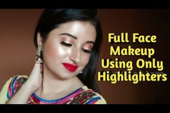 Full Face Makeup Using Only Highlighters Challenge | Beautiful U