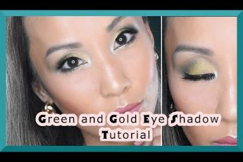 GREEN AND GOLD SMOKEY EYES TUTORIAL | CHRISTMAS | GREEN BAY PACKERS EYES MAKEUP LOOK | DARLA BEAUTY