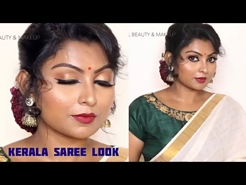 Saree Makeup look in Tamil || ONAM Makeup look 2019 || Rose Tamil Beauty & Makeup