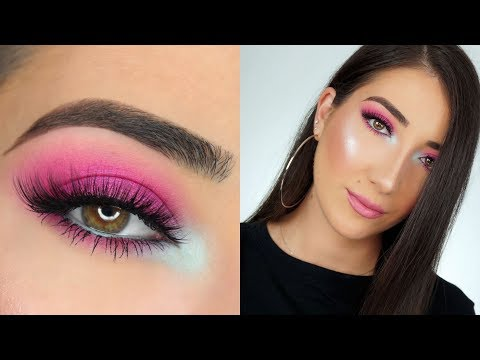 HOT PINK SMOKEY EYE MAKEUP TUTORIAL