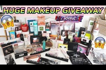 HUGE MAKEUP GIVEAWAY!!! ?  TONS OF BEAUTY PRODUCTS!