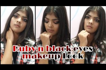Ruby n black eyes makeup Look l RASHIJAISWAL l #festive