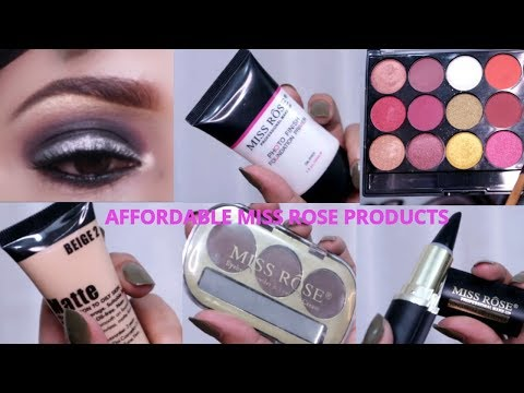 Most affordable brand miss rose || smokey eyes with silver liner || makeup for begginers
