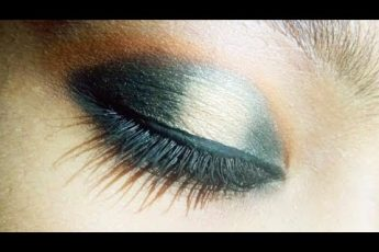 Black and golden halo eye makeup || step by step halo eye makeup || beginners best makeup|