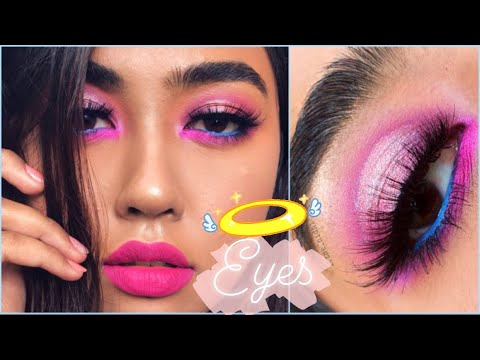 ? PINK PURPLE ? COLORFUL HALO EYES MAKEUP TUTORIAL | HODDED EYES MAKEUP TUTORIAL