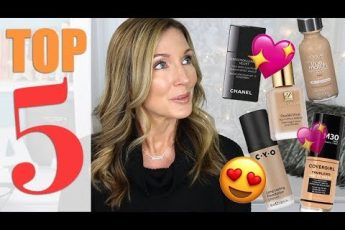 My Top 5 Foundations for Mature Skin!