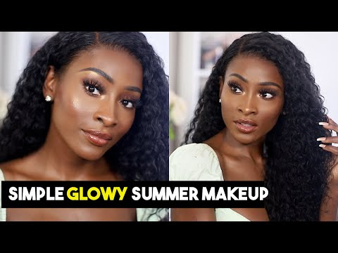EASY EVERYDAY SUMMER GLOWY MAKEUP + BEAUTY FOREVER CURLY HAIR