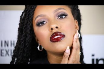 FALL MAKEUP TUTORIAL | COOL TONED EYES, GLOSSY BURGANDY LIPS