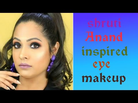 Shruti Anand inspired smoky eye makeup || I tried to recreate Shruti Anand makeup || smoky eye||