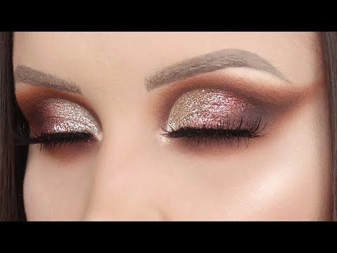 Glitter cut crease for hooded eyes makeup tutorial