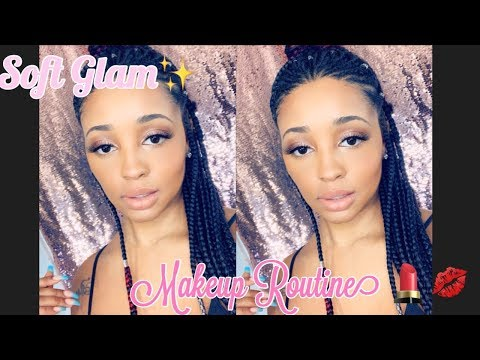 **GRWM** SOFT GLAM/NATURAL FENTY BEAUTY MAKEUP ROUTINE/REVIEW
