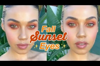 Fall Sunset Eyes Makeup | Eman