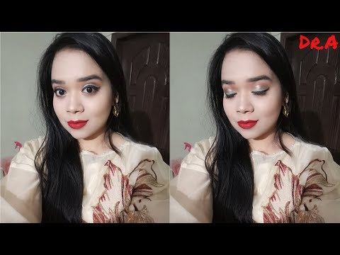 Soft Glam Eyes & Red Lips Makeup Tutorial l Doctor Aby