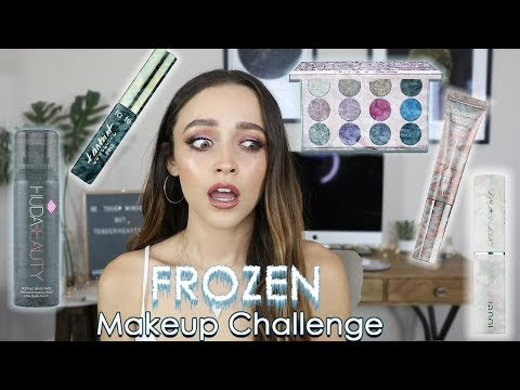 I FROZE MY MAKEUP!!!! | Full Face of Frozen Makeup……. omg