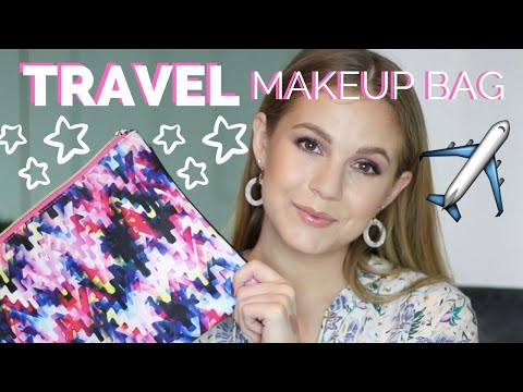 What's in my TRAVEL MAKEUP BAG?// & Packing Tips!