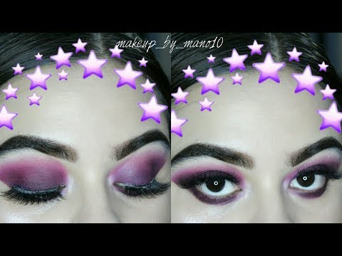 PURPLE SMOKEY EYE LOOK // MAKEUP REVOLUTION VELVET MATTE PIGMENT PALETTE