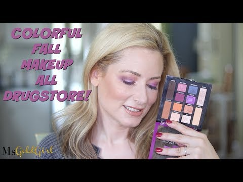 Colorful Fall Makeup Look | All Drugstore | MsGoldgirl