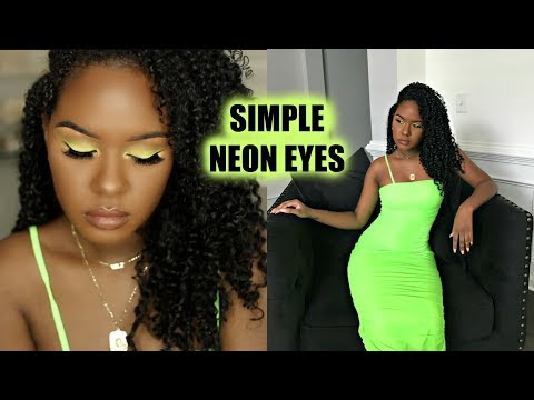 SIMPLE NEON EYES! MAKEUP TUTORIAL