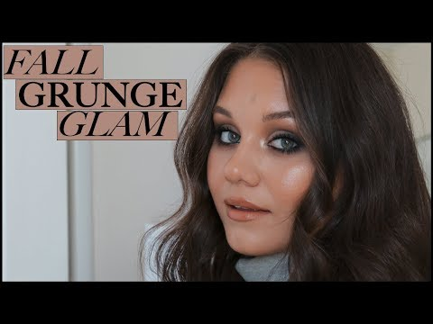 GREY SMOKY EYE MAKEUP – Fall Grunge Glam GRWM