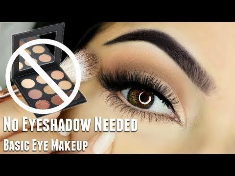 Beginners Eye Makeup Tutorial | WITHOUT using Eyeshadow | Basic Eye Makeup Look | She beauty life
