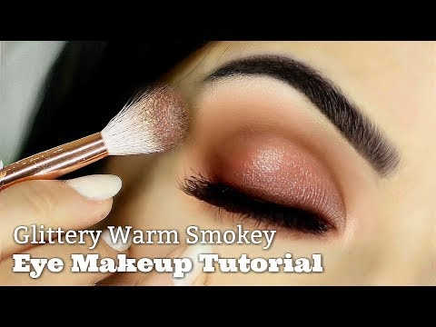 Beginners Eye Makeup Tutorial | Smokey Glitter | How To Apply Eyeshadow