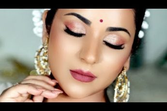 Diwali Makeup Tutorial 2019 | Glowy skin, Sparkly eyes (and Giveaway #1)
