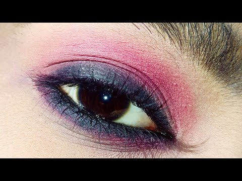 Pink Smoky eye makeup|| step by step Smoky eye makeup for beginners|| Requested video||