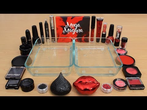 Black vs Red – Mixing Makeup Eyeshadow Into Slime! Special Series 199 Satisfying Slime Video
