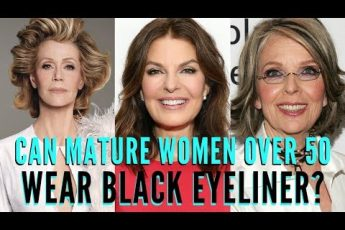 Why are mature women over 50 afraid of black eyeliner? | mathias4makeup